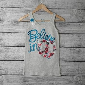 Justice Girls Sleeveless Tank Top Size 16